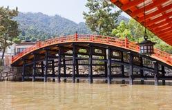 Arched Bridge (1557) of Itsukushima Shrine, Japan. UNESCO site Royalty Free Stock Photography
