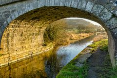 A bridge on the lancaster canal Stock Photography