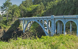 Arched Bridge on Otter Crest Loop Stock Image