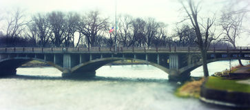 Arched Bridge Over Fox River Royalty Free Stock Image