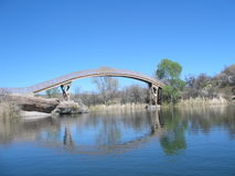 Arched Bridge Over Lake Royalty Free Stock Photography