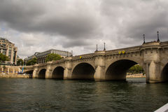Arched Bridge over Seine River in Paris, France Royalty Free Stock Images