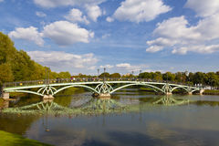 Arched Bridge in Tsaritsyno Park, Moscow Stock Photo