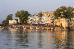 Arched bridge, Udaipur, India Royalty Free Stock Images