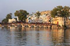 Arched bridge, Udaipur, India Royalty Free Stock Images