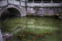 Arched bridge waterway Royalty Free Stock Image