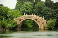 Arched Bridge Wuzhen water theather royalty free stock photos