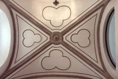 Arched Ceiling of Catholic Church in Prague Stock Photography