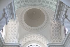 Arched ceiling in church Royalty Free Stock Image