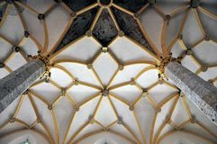 Arched ceiling of a medieval church, Slovenia Stock Photo