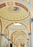 Arched ceiling painting in the Hermitage museum, St. Petersburg Royalty Free Stock Photos