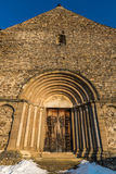 Arched church door. Fortified church door of the oldest Roman basilica and it is located on the top of Saint Michael's Hill in Cisnadioara, Transylvania stock photos
