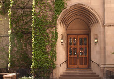 Arched Church doorway Royalty Free Stock Photography