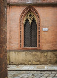 Arched church window Royalty Free Stock Photos