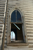 Arched church window2 Stock Photo