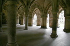 Arched Cloister. S in Glasgow University, Scotland stock photos