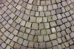 Arched Cobble Stone Patio. A traditional arched stone patio cobble stone style in Europe royalty free stock photos