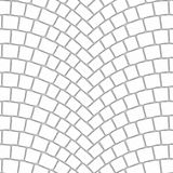Arched cobblestone pavement texture 000 - ambient map. Cobblestone pavement street with arched pattern. Seamless tileable repeating square 3D rendering ambient Royalty Free Stock Photography