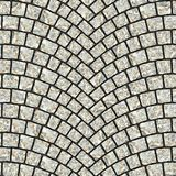 Arched cobblestone pavement texture 013. Cobblestone pavement street with arched pattern. Seamless tileable repeating square 3D rendering texture Stock Photo