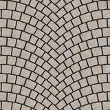 Arched cobblestone pavement texture 064. Cobblestone pavement street with arched pattern. Seamless tileable repeating square 3D rendering texture Vector Illustration