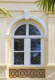 Arched colonial window Stock Images