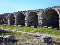 Arched construction of roman stadion in perge Stock Photography