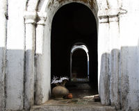 Arched Contrasting Doorway Royalty Free Stock Photos
