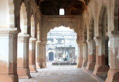 Arched corridor Orcha Palace Stock Image