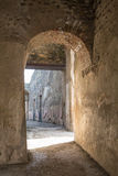 Arched Doorway in Ancient Pompeii Royalty Free Stock Image