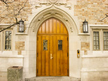 Arched Doorway on the Notre Dame Campus Royalty Free Stock Photography