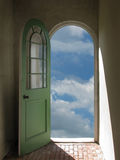 Arched Doorway to Blue Sky Stock Photo
