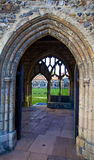 Arched doorways onto cloister. Royalty Free Stock Photo