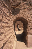 Arched doorways at the Spanish Mission, Pecos National Historical Park, NM Stock Image