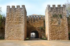 Arched entraceway in Lagos, Algarve, Portugal Royalty Free Stock Image