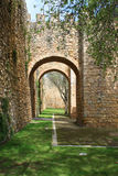 Arched entraceway in Lagos, Algarve, Portugal Royalty Free Stock Photos