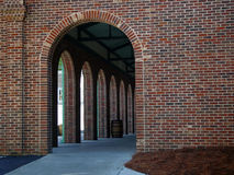Arched Entrance. Arches with in a brick building royalty free stock photography
