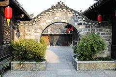 Arched entrance in China. Stock Photography