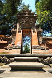 Arched entrance sculture Pura Tirta Umple Temple at Bali Stock Photos