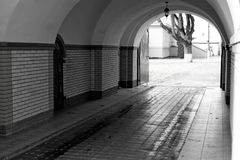 Arched entrance to the monastery royalty free stock photos