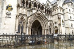 Free Arched Entrance To The Royal Courts Of Justice On Strand, London, United Kingdom Royalty Free Stock Images - 159664579