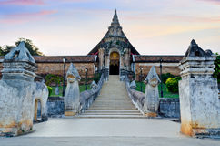 Wat Phra That Lampang Luang temple Royalty Free Stock Photography