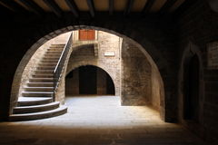 Arched entry way Stock Images