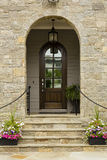 Arched front door Stock Image