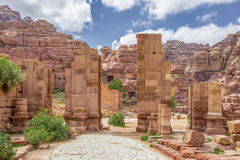 Arched Gate in the ancient city of Petra (Jordan) Stock Image