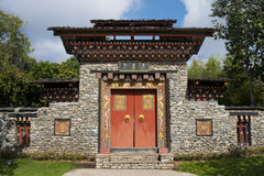 Arched gate Bhutan style Royalty Free Stock Photo