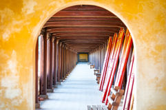 Arched hall of Hue citadel, Vietnam, Asia. royalty free stock photos