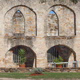 Arched Masonry Courtyard of the Historic Old West Spanish Mission San Jose National Park Royalty Free Stock Photos