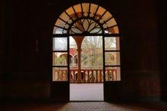 Arched medieval doorway in jaral de berrio mexico Royalty Free Stock Photo