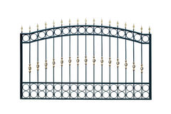 Arched metal fence. Stock Image