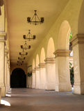 Arched mission walkway Stock Image